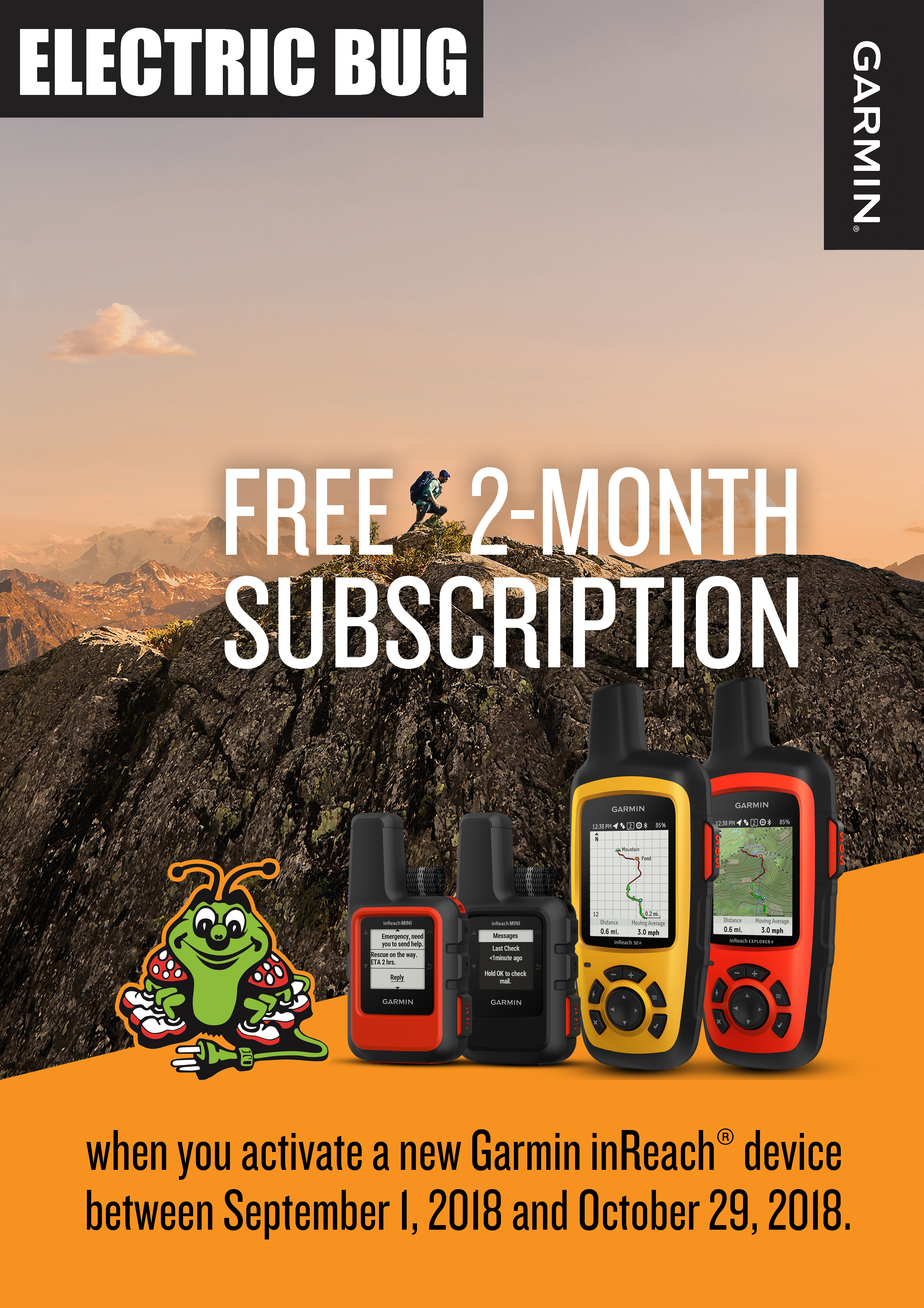 Garmin Giving More With The Inreach Electric Bug